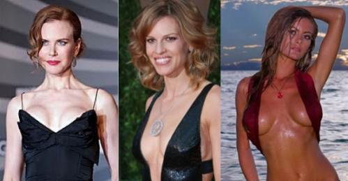celebrity breast implants, breast augmentation, Nicole Kidman, Hillary Swank, Holly Weber, entertainment, beauty, cosmetic surgery